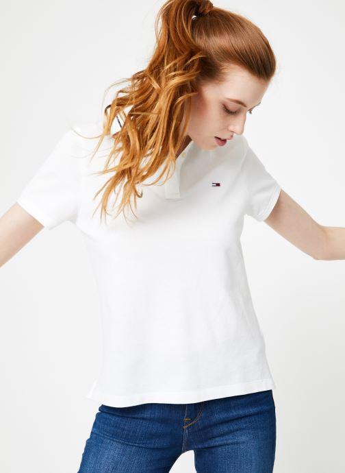 Vêtements Tommy Jeans TJW TOMMY CLASSICS POLO Blanc vue détail/paire