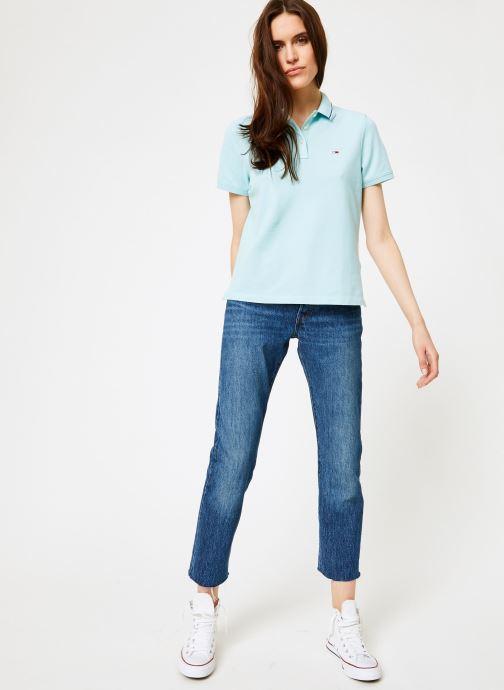 Tøj Tommy Jeans TJW TOMMY CLASSICS POLO Blå se forneden