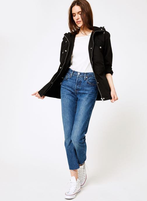 Vêtements Tommy Jeans TJW ESSENTIAL COTTON JACKET Noir vue bas / vue portée sac