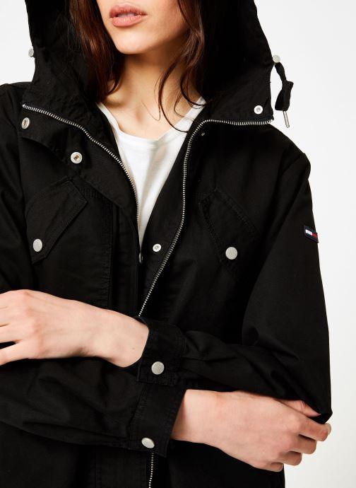 Vêtements Tommy Jeans TJW ESSENTIAL COTTON JACKET Noir vue face
