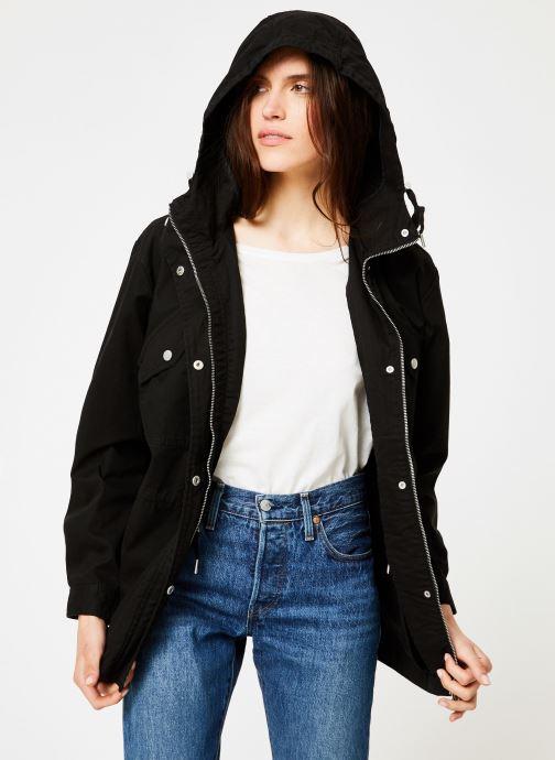 Vêtements Tommy Jeans TJW ESSENTIAL COTTON JACKET Noir vue droite