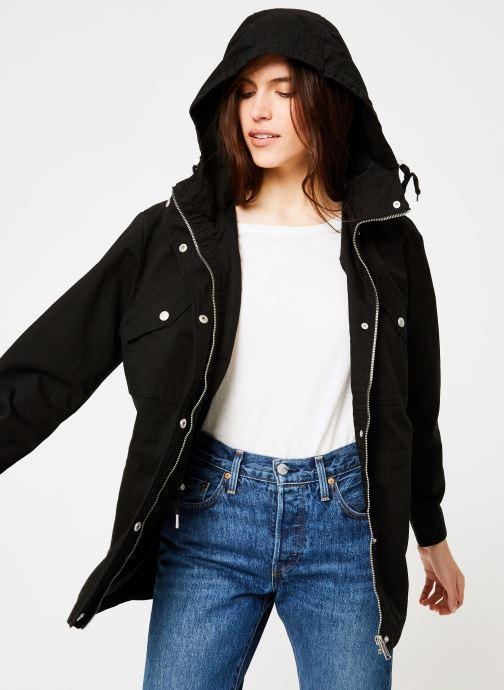 Vêtements Tommy Jeans TJW ESSENTIAL COTTON JACKET Noir vue détail/paire