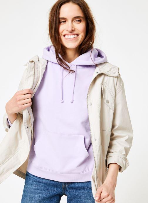 Vêtements Tommy Jeans TJW ESSENTIAL COTTON JACKET Beige vue détail/paire