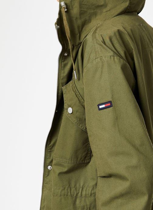 Vêtements Tommy Jeans TJW ESSENTIAL COTTON JACKET Vert vue face