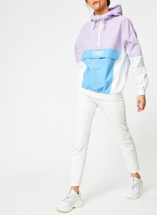 Vêtements Tommy Jeans TJW RETRO COLORBLOCK POPOVER Multicolore vue bas / vue portée sac