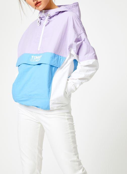 Vêtements Tommy Jeans TJW RETRO COLORBLOCK POPOVER Multicolore vue droite