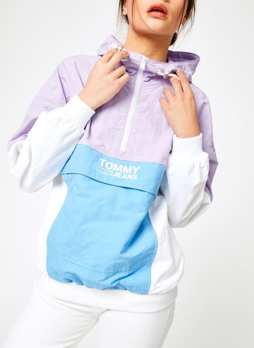 Vêtements Tommy Jeans TJW RETRO COLORBLOCK POPOVER Multicolore vue détail/paire