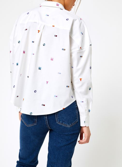 Tjw Tops Et tommy Classic Jeans Embroidered Aop VêtementsChemises Shirt White Tommy 8nwkOP0