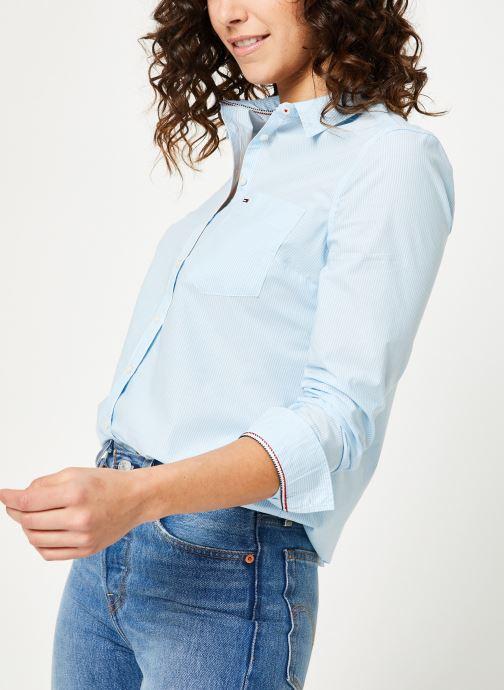 Vêtements Tommy Jeans TJW REGULAR STRIPE POPLIN SHIRT Bleu vue détail/paire