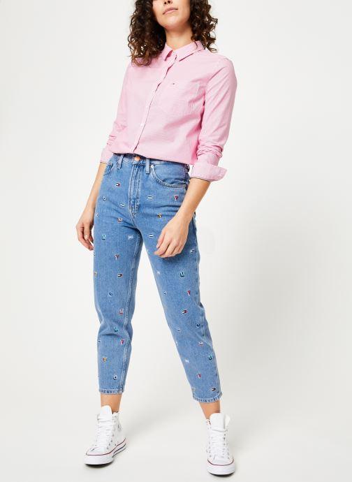 Kleding Tommy Jeans TJW REGULAR STRIPE POPLIN SHIRT Roze onder