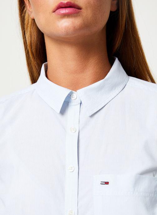 Tøj Tommy Jeans TJW REGULAR STRIPE POPLIN SHIRT Hvid se forfra