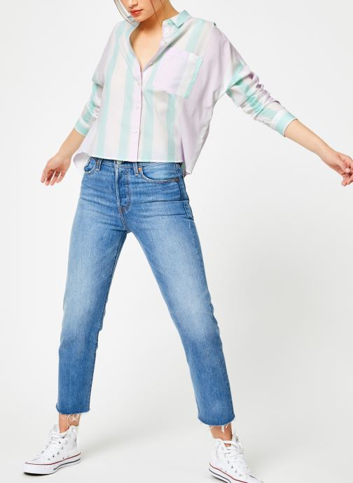 Vêtements Tommy Jeans TJW BOXY MULTISTRIPE SHIRT Multicolore vue bas / vue portée sac