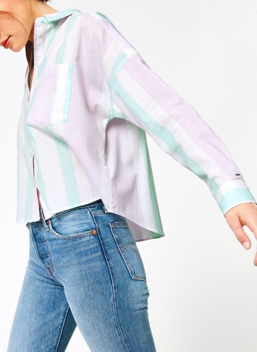 Vêtements Tommy Jeans TJW BOXY MULTISTRIPE SHIRT Multicolore vue droite