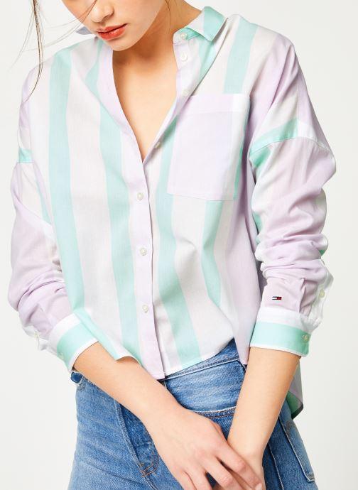 Vêtements Tommy Jeans TJW BOXY MULTISTRIPE SHIRT Multicolore vue détail/paire