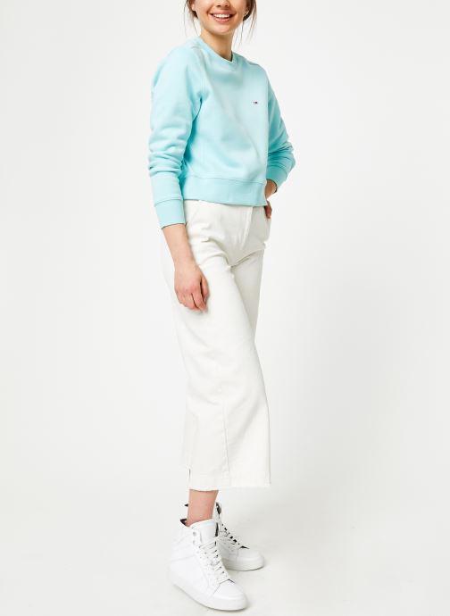 Kleding Tommy Jeans TJW SIDE SEAM DETAIL CREW Blauw onder