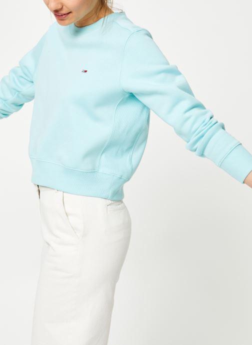 Kleding Tommy Jeans TJW SIDE SEAM DETAIL CREW Blauw detail
