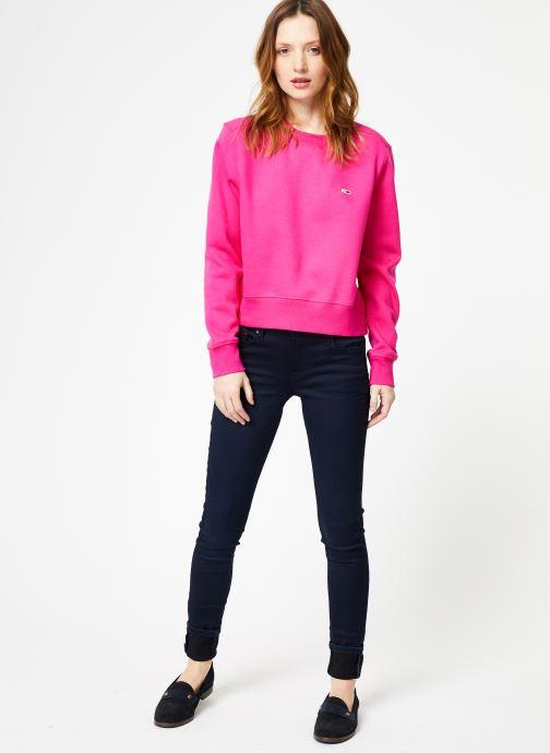 Tøj Tommy Jeans TJW SIDE SEAM DETAIL CREW Pink se forneden