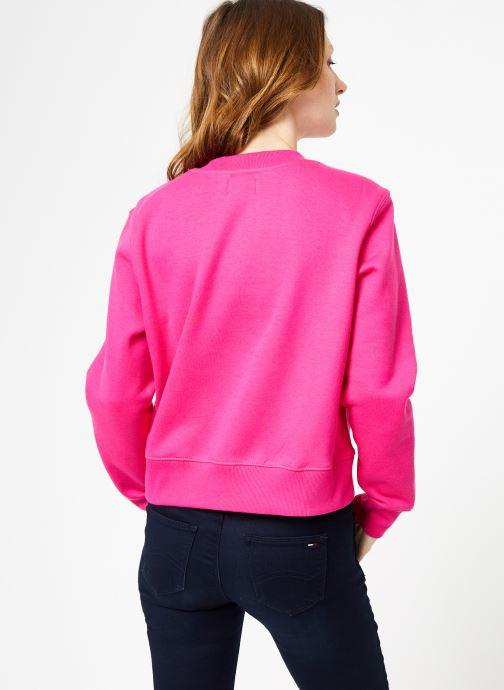 Tøj Tommy Jeans TJW SIDE SEAM DETAIL CREW Pink se skoene på