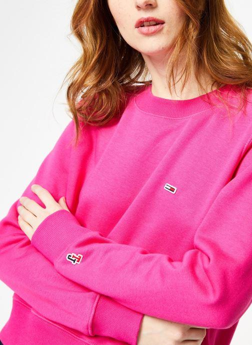 Tøj Tommy Jeans TJW SIDE SEAM DETAIL CREW Pink se forfra