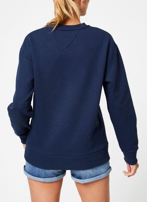 Kleding Tommy Jeans TJW BOLD TOMMY CREW Blauw model