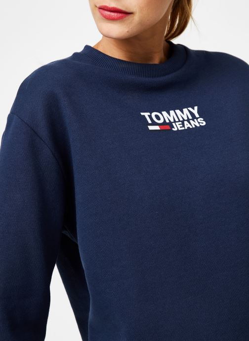 Kleding Tommy Jeans TJW BOLD TOMMY CREW Blauw voorkant