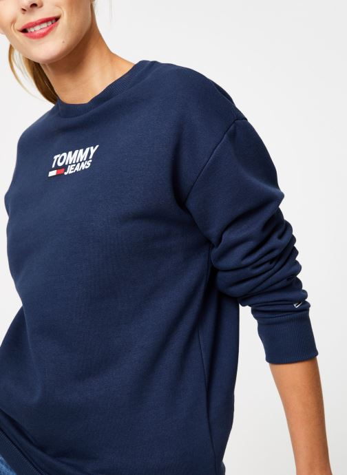 Kleding Tommy Jeans TJW BOLD TOMMY CREW Blauw detail