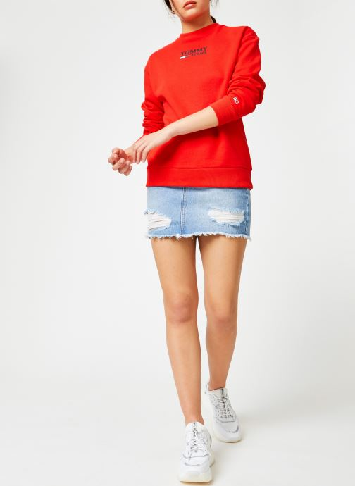 Kleding Tommy Jeans TJW BOLD TOMMY CREW Rood onder