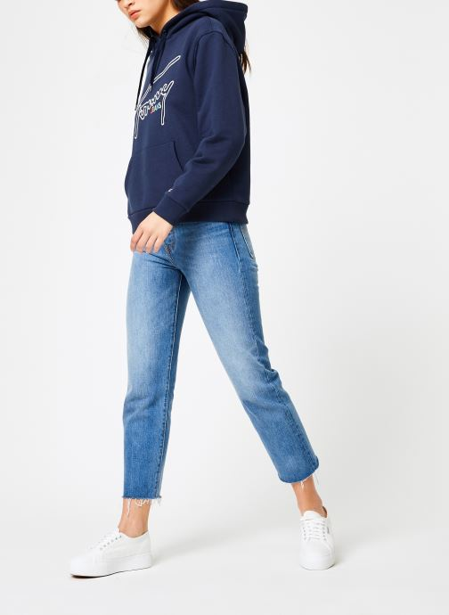 Kleding Tommy Jeans TJW TOMMY SIGNATURE HOODIE Blauw onder