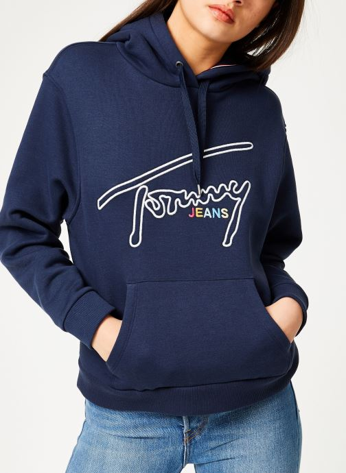 Kleding Tommy Jeans TJW TOMMY SIGNATURE HOODIE Blauw detail