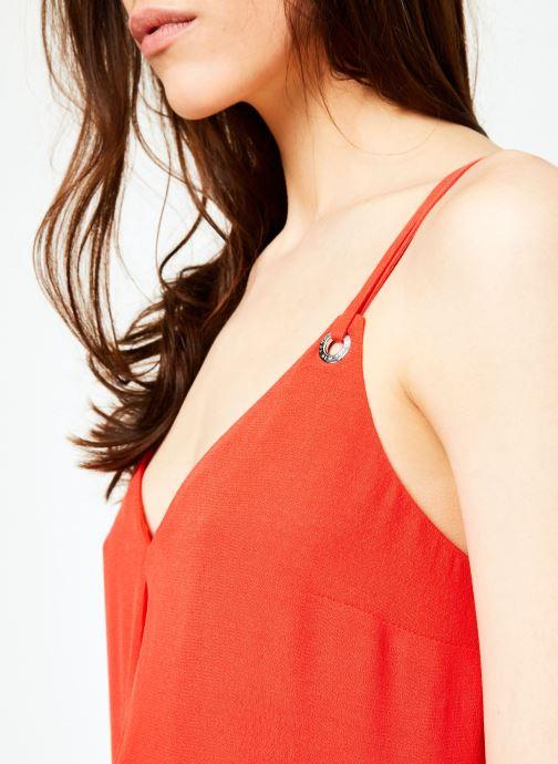 Vêtements Tommy Jeans TJW MIDI STRAP DRESS Rouge vue face