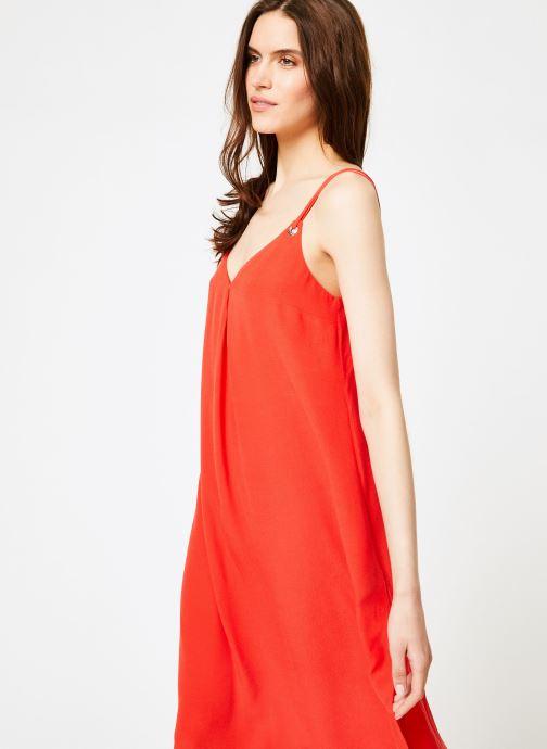 Vêtements Tommy Jeans TJW MIDI STRAP DRESS Rouge vue droite