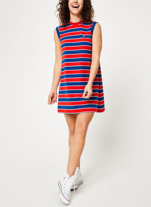 Vêtements Tommy Jeans TJW A-LINE STRIPE DRESS Multicolore vue bas / vue portée sac