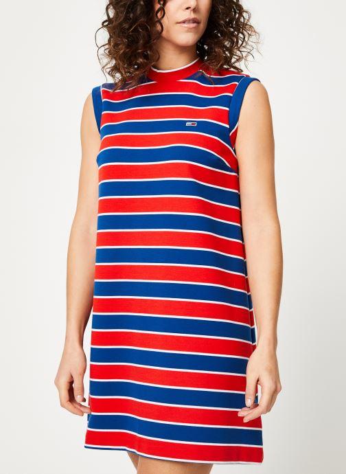 Vêtements Tommy Jeans TJW A-LINE STRIPE DRESS Multicolore vue droite
