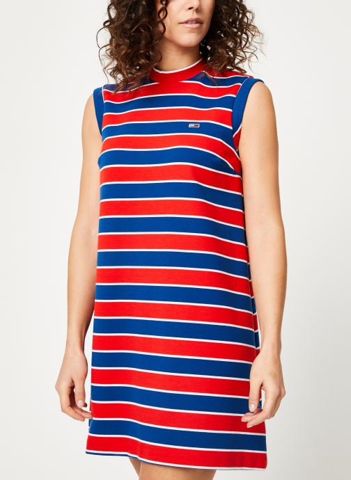 Vêtements Tommy Jeans TJW A-LINE STRIPE DRESS Multicolore vue droite