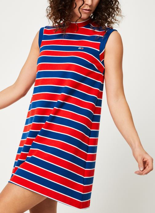 Vêtements Tommy Jeans TJW A-LINE STRIPE DRESS Multicolore vue détail/paire