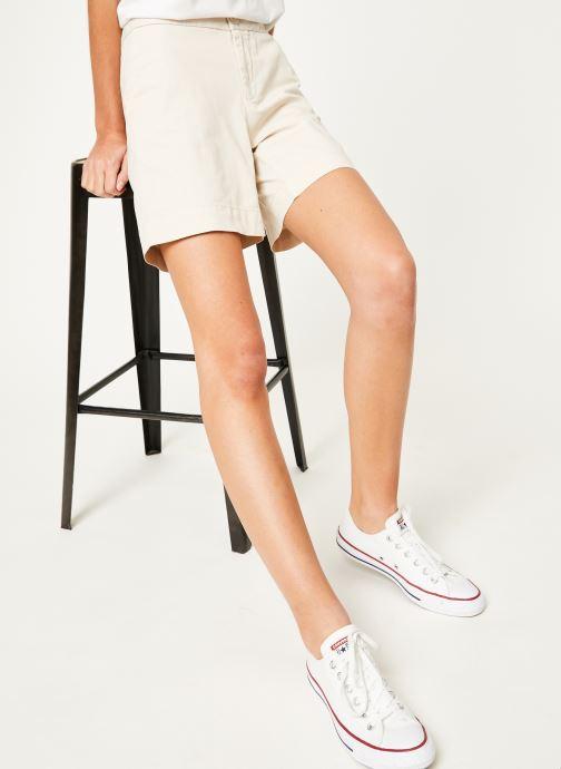 Vêtements Tommy Jeans TJW ESSENTIAL CHINO SHORT Beige vue détail/paire