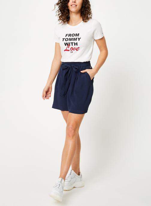 Vêtements Tommy Jeans TJW FLUID BOW DETAIL SHORT Bleu vue bas / vue portée sac