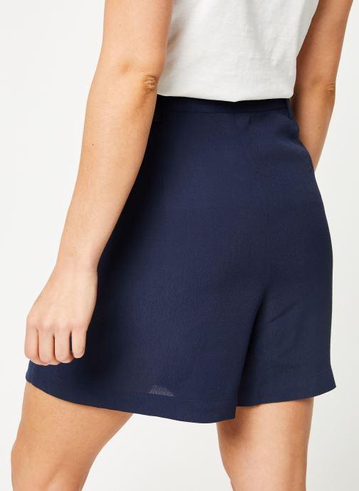 Vêtements Tommy Jeans TJW FLUID BOW DETAIL SHORT Bleu vue portées chaussures