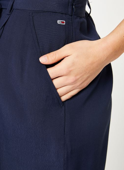 Vêtements Tommy Jeans TJW FLUID BOW DETAIL SHORT Bleu vue face