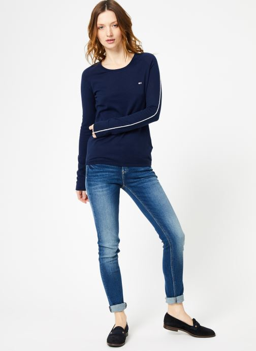 Kleding Tommy Jeans TJW CONTRAST PIPPING SWEATER Blauw onder