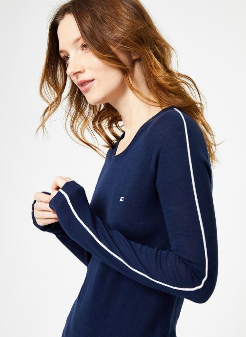 Vêtements Tommy Jeans TJW CONTRAST PIPPING SWEATER Bleu vue détail/paire