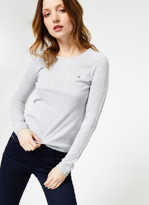 Kleding Tommy Jeans TJW CONTRAST PIPPING SWEATER Grijs detail
