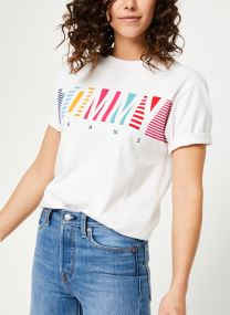 TJW MULTI STRIPES LOGO TEE