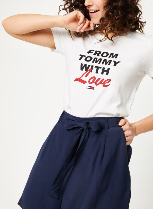 Kleding Tommy Jeans TJW TOMMY WITH LOVE TEE Wit detail