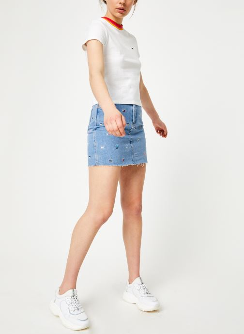 Vêtements Tommy Jeans TJW SOLID BABY TEE Blanc vue bas / vue portée sac
