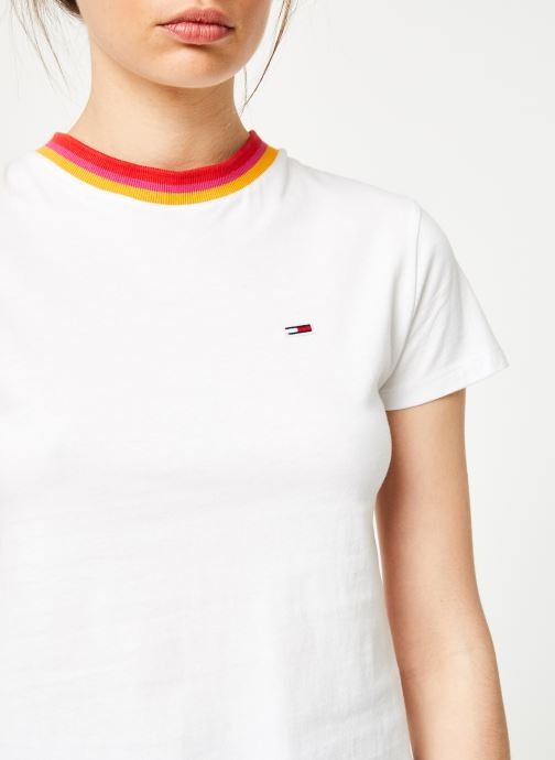 Vêtements Tommy Jeans TJW SOLID BABY TEE Blanc vue face