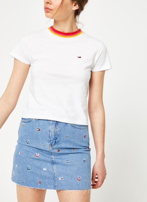 Vêtements Tommy Jeans TJW SOLID BABY TEE Blanc vue détail/paire