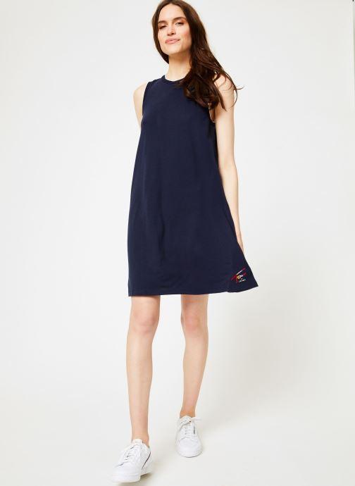 Vêtements Tommy Jeans TJW A-LINE TANK DRESS Bleu vue bas / vue portée sac
