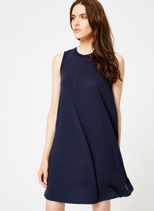 Vêtements Tommy Jeans TJW A-LINE TANK DRESS Bleu vue droite