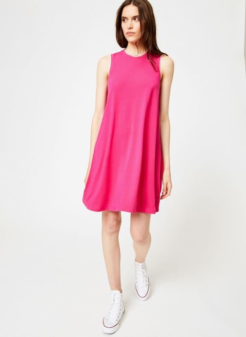 Vêtements Tommy Jeans TJW A-LINE TANK DRESS Rose vue bas / vue portée sac
